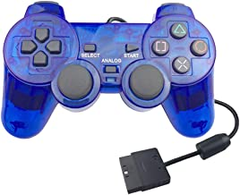 GorNorriss Electronics Gadgets Clear Transparent PS2 Controller Replacement Joystick for Sony Playstation 2 (Blue)
