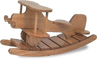 JMX Exclusive - Amish Wooden Airplane Rocker (Medium Walnut)
