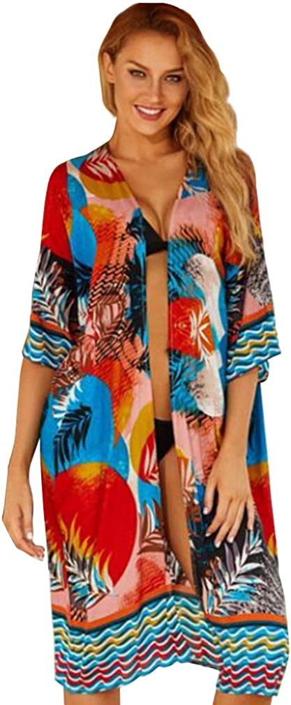 Swimsuit Cover Ups for Women Beach Bikini Bathing Suit Loose Summer Cardigan Dress
