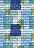 Syntex Weichschaummatte Bodenbelag Aquamatte Badvorleger Antirutschmatte Saunamatte Poolmatte Breite 65 cm länge frei wählbar Design quadrate (quadrate/grün-blau, 350)