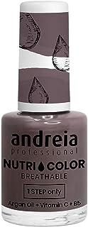 Andreia Professional NutriColor - Esmalte de uñas vegano transpirable - Color NC25 Gris oscuro - 10.5ml