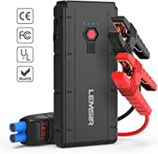 LEMSIR QDSP 1500A Peak 12V Portable Car Lithium Jump Starter Auto Battery Booster up to 8.0L Gas or 6.2L Diesel Phone Charger Power Pack with Smart Jumper Cables V2