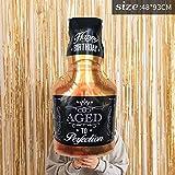 30e Anniversaire Golden Crown Verres à Champagne Whisky Bouteille Feuille Ballon High School Party Décoration Métallique Ballons de Fête Bigwhiskeybottle