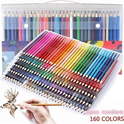 Techting 2pcs Farben Holz Buntstifte, Holz Buntstifte Set Schule Zeichnung Skizze Malerei Öl Farbstift zufällige Farbe