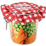 Rainbow Socks - Damen Herren - Grüne Erbsen mit Möhrchen & Zitrone Socken im Glas - Geschenk Idee - 2 Paar - Größen 36-40