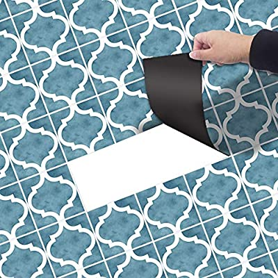 Household Products PVC self-Adhesive Environmentally Friendly Floor Tile Stickers, Bathroom Waterproof Non-Slip Vinyl Flooring, Living Room Bedroom Home Decoration Tile Stickers, 7.87118 inches