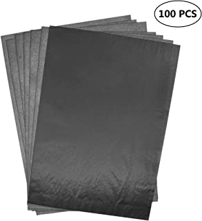 dellcciu 100hojas papel transfer Carbon Carbón Papel kopierpapiere hojas de papel carbón negro din a4papel de calco Natural Papel carbón