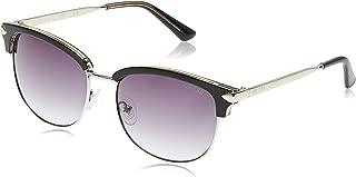 Guess 19307211 Oval Sunglasses GU7482E Shiny Black/Smoke Mirror for Women