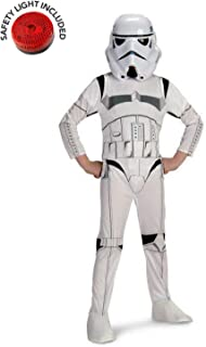 Star Wars Stormtrooper Costume Kit with Safety Light - Kids M