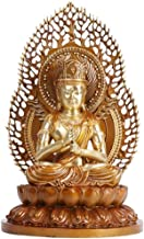 Buddha Statue Collection Gifts,Sitting Buddha for Office Home Ornamental,Meditating Buddha Sculpture Golden 16.9inch