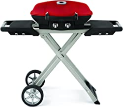 Napoleon s TQ285X-RD-A Travelq 285 Portable Gas with Scissor Cart, Red