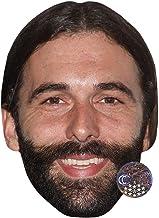 Celebrity Cutouts Jonathan Van Ness Big Head. Larger Than Life mask.