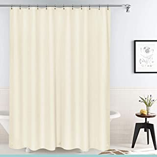 ESSENTIALS Deluxe Heavyweight Vinyl Shower Curtain Liner with Rust-Proof Metal Grommets, Mildew Resistant, Heavy Duty, Super Water-Repellent, Chlorine-Free – 70 x 72 Inches, (Beige)