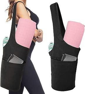 MoKo Yoga Mat Bag, Yoga Mat Tote Sling Carrier Lightweight Yoga Mat Carry Bag with Large Pocket & Zipper Pocket, Yoga Mat Holder for Women Men Fits Most Size Mats Reuseable Storage Bag