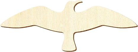 Deko Basteln 3-50cm Pack mit:1 St/ück Gr/ö/ße:3cm Fliegende Holz M/öwe