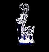 Kerst Eland SFALHX 3D LED Illusie Lamp, Baby's Illusie Lamp Kids Touch Tafelbureau LED Lamp 16 Kleur Veranderen, Kerstcade...