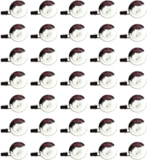 Happyyami Brosche Verschlüsse Pin Disk Base Pad Lünette Leere Cabochon Tabletts Rücken für Abzeichen Corsage Namensschilde...