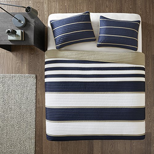 Comfort Spaces Verone 3 Piece Quilt Coverlet Bedspread