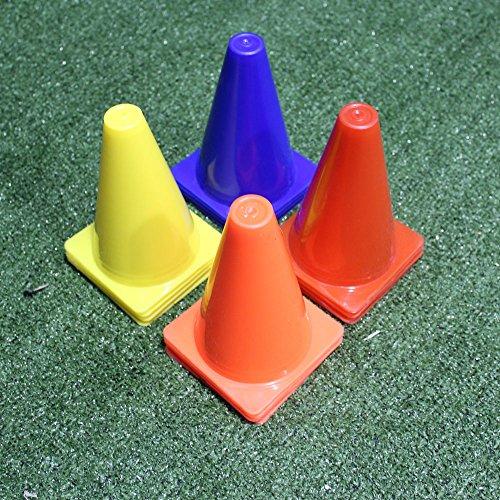 Fitness Health FH - Juego de 4 conos de marcador de fútbol