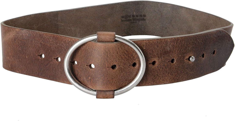 Maison Martin Margiela 11 Women's Distressed Brown Leather Belt Sz US S
