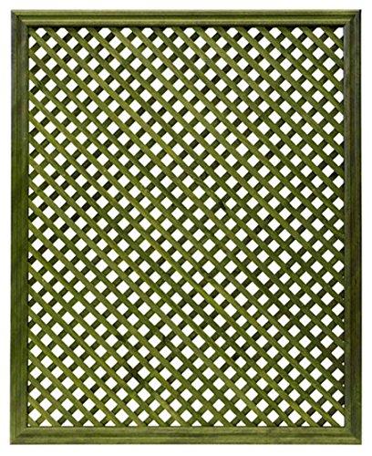 Celosía De Madera Tratada para Decoración De Terrazas, Jardines y Exteriores - Verde (114x92 cm)