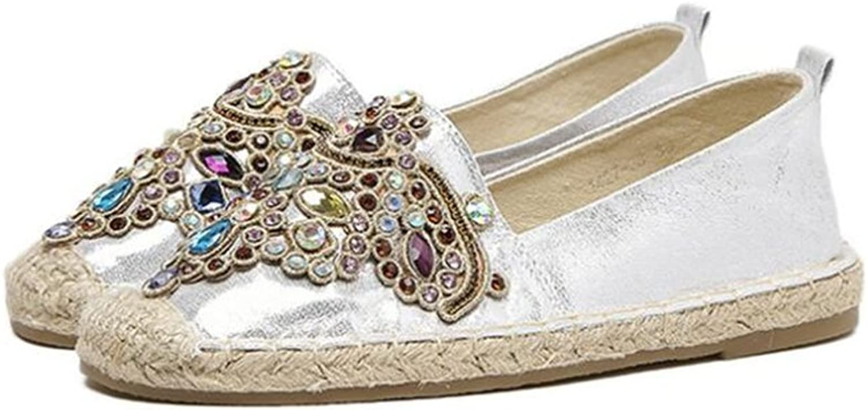 YUBUKE Flat Espadrilles Sandals Summer Dress shoes Fisherman shoes