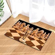 Bathroom Mat. Doormat. Size: 40Cmx 60Cm. Non-Slip. Plus Velvet. 3D Hd Printing. Bathroom Accessories.Chess Decoration.