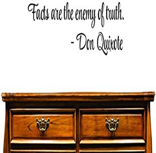 Design with Vinyl US V SOS 550 2 Top Selling Decals Facts are The Enemy of Truth. -Don Quixote Wall Art Size: 12 Inches X ...