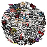 [84Pcs Random No Repeat] Band stickers, music stickers, guitar stickers, punk stickers, rock and roll music stickers, metal band stickers, classic rock stickers, metal stickers, sticker lot, grunge stickers, rock and roll stickers, sticker packs, vinyl stickers, big stickers