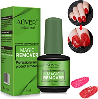 Magic Soak-Off Gel Nail Polish Remover, Professional Remover Nail Polish Delete Primer Acrylic Clean Degreaser For Nail Art Lacquer, Easily and Quickly(15ml)