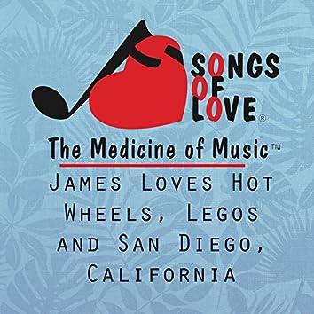 James Loves Hot Wheels, Legos and San Diego, California