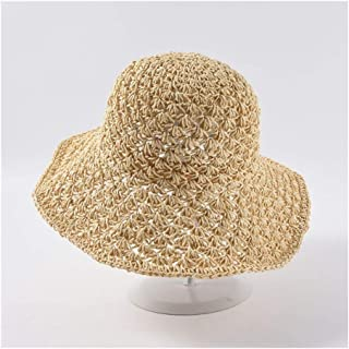 Big Straw hat Spring and Summer hat Ladies Japanese Wild Holiday Travel Beach Sun hat` TuanTuan (Color : Beige)