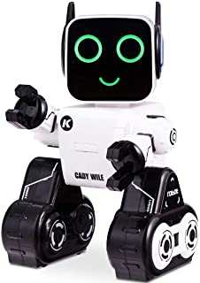 Costzon Wireless Remote Control Robot, RC Robot Toy Senses Gesture, Sings, Dances, Talks, and Teaches Science Robot Smart for Kids (White)