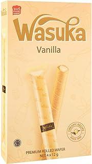 Wasuka Rolled Wafer, Vanilla, 48g