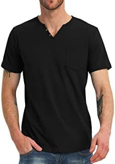 Sponsored Ad - NITAGUT Men's Casual Slim Fit Short Sleeve Pocket T-Shirts Cotton V Neck Tops