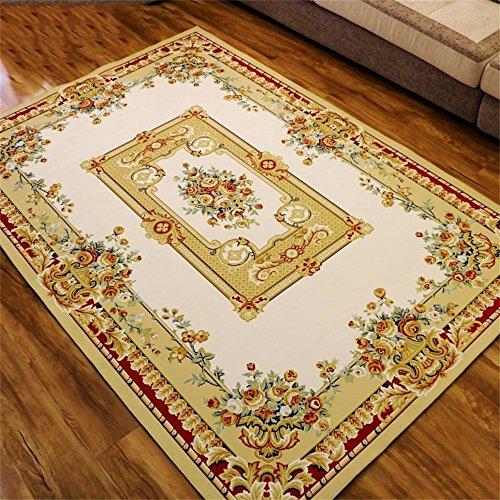 Moquettes tapis et sous-tapis Style européen Rose Lace Salon Carpet Canapé Table basse Tapis Chambre Tapis de chevet 6 tailles (taille : 120 * 160cm)
