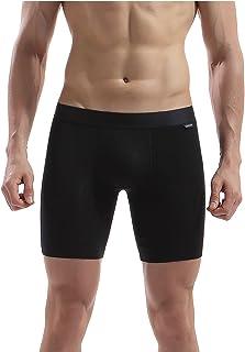 AIWENSI Men's Underwear 2-Pack Zero Formaldehyde Micro Modal Boxer Briefs (FreeCutting-Tech, Long Leg)