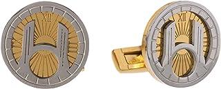 Diamond Moon Stainless Steel Cufflinks for Men, Stainless Steel - 1800541240444