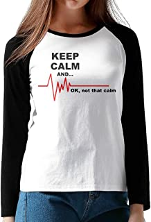 Keep Calm & Ok Not That Calm Adult Women's Color Blocking Casual T-Shirt