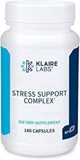 Klaire Labs Stress Support Complex - Adaptogenic Blend with GABA, L-theanine & Valerian, No Dairy or Wheat (180 Capsules)