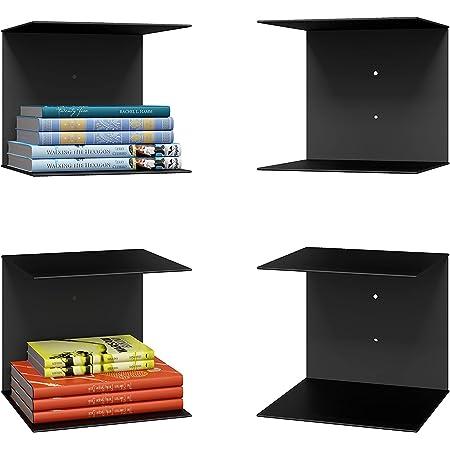 Levon Book Shelves Wall Mounted Floating Shelves Set of 2, Picture Shelving Ledge for Kitchen, Living Room, Bedroom, Office (Medium)
