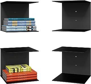 Levon Book Shelves Wall Mounted Floating Shelves Set of 2, Picture Shelving Ledge for Kitchen, Living Room, Bedroom, Offic...