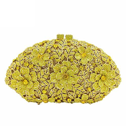 Boutique De FGGCBG833211 - Kristall, Abendtasche Damen, Gelb (gelb), Small