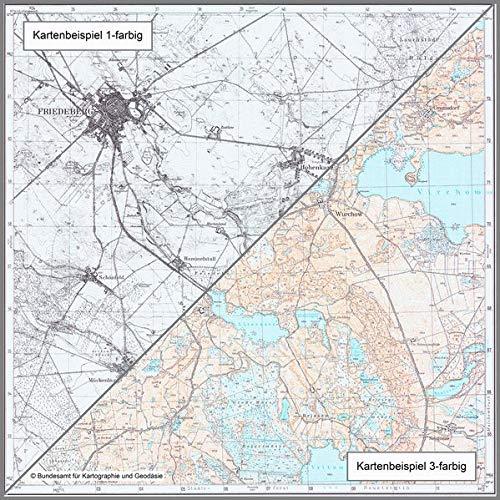 Landkron: Topographische Karte 1:25.000 (Meßtischblatt) (Topographische Karte 1:25000 (TK 25) / Nachdruck aus Kartenbeständen des ehemaligen Reichsamtes für Landesaufnahme)