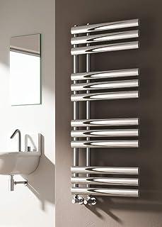 Radiador de toalla de baño de lujo contemporáneo, cromado, toallero de doble combustible, toallero eléctrico., cromado, 820 * 500