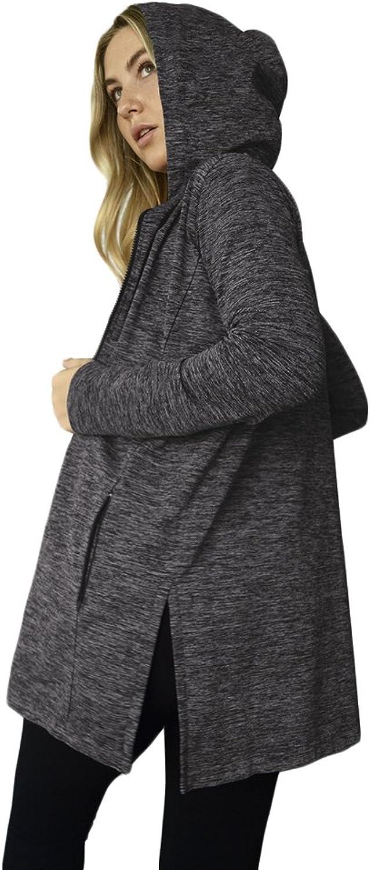 M. Rena Loose Jacket with Side Slit and Hoodie