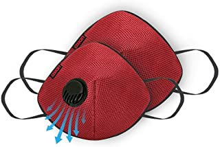 Asian Ultra Maroon reusable respirator cloth mask Large Size-Pack of 2