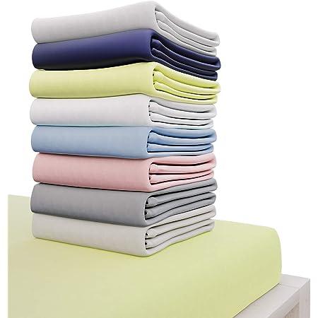 Dreamzie - Drap Housse 160x200 cm - 100% Coton Jersey Certifié Oeko-TEX® - Vert - pour Matelas 160 x 200 x 27 cm avec Grands Bonnets et Elastique Complet