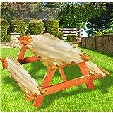 LEWIS FRANKLIN - Cortina de ducha de lujo para picnic, hojas de arce Bokeh, mantel ajustable con bordes elásticos, 60 x 172 pulgadas, juego de 3 piezas para mesa plegable