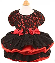 MaruPet Elegant Princess Lace Hollow Dress Silky Tutu Queen Style with Bowknit for Small, Extra Small DogTeddy, Pug, Chihuahua, Shih Tzu, Yorkshire Terriers